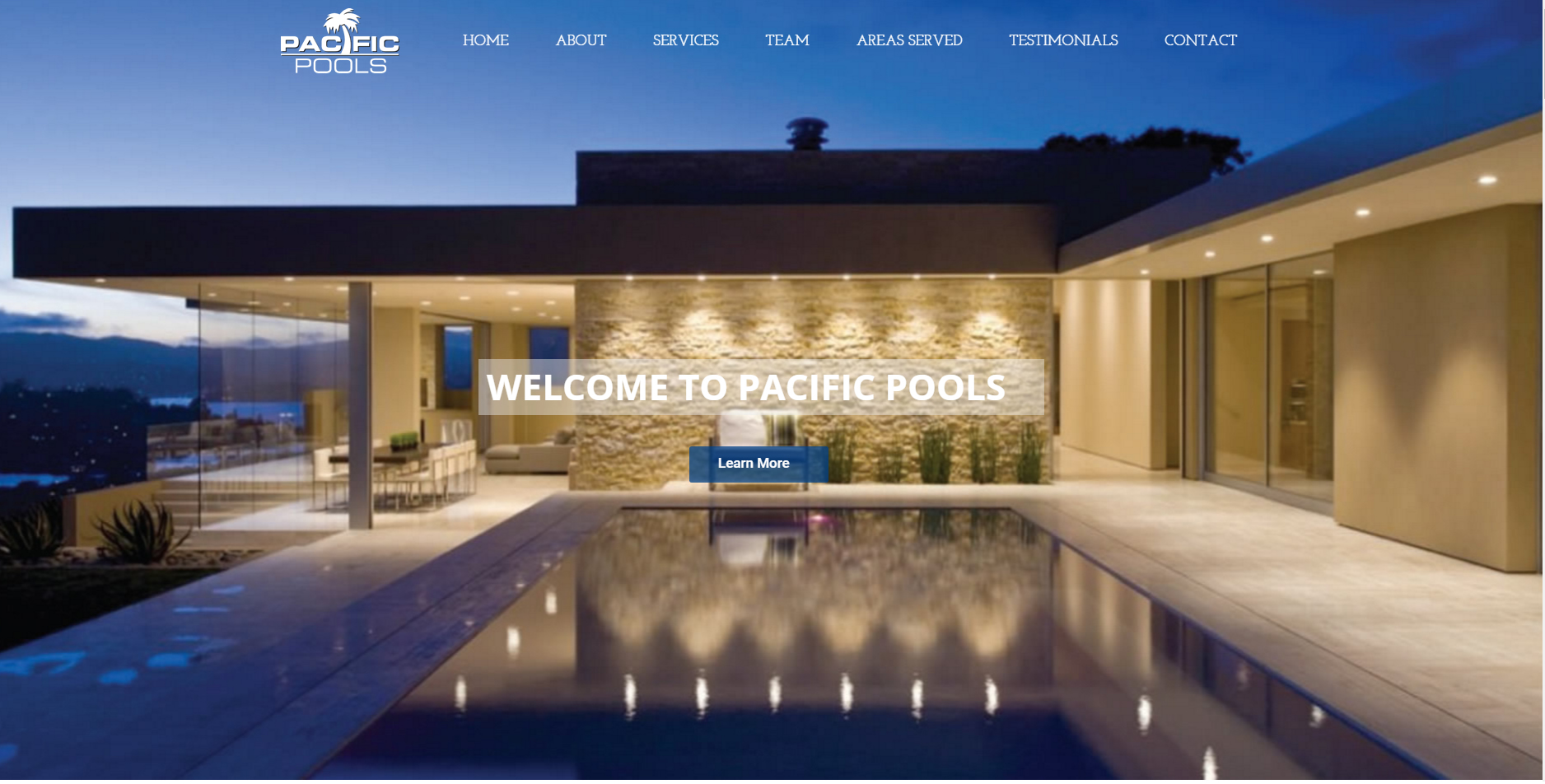 Pacific pools site rebuild single page parallax site and for Pacific pools